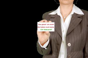 Alternative Suchstrategien, kreative Jobsuche, Job wechseln, CV Visitenkarte. Lebenslauf-Visitenkarte. CV-Jobcard.